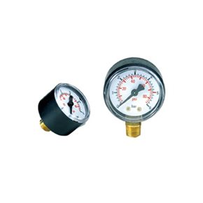 "Manometer 16bar R63 1/4"" onder"