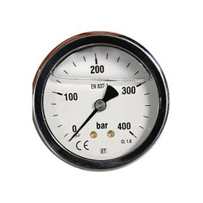 Manometer 400 bar achter