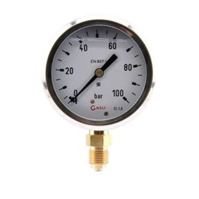 Manometer 100Bar (onder)