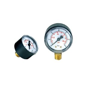 Manometer 25 bar (onder)