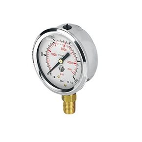 "Manometer 300bar 1/4"" onder"